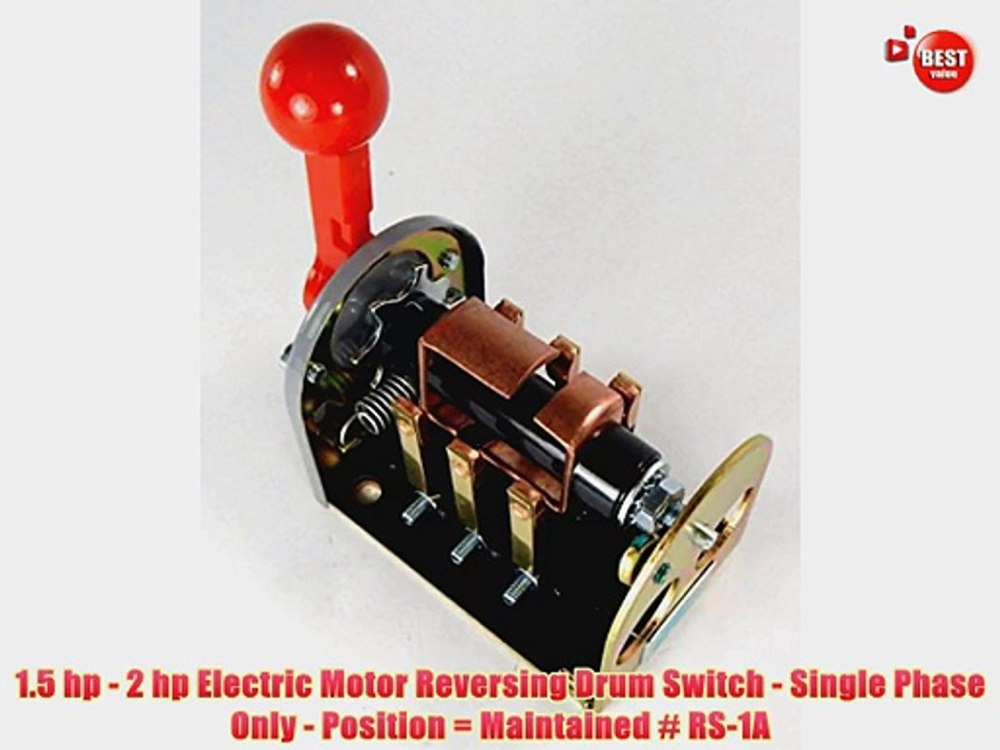 medium resolution of 1 5 hp 2 hp electric motor reversing drum switch single phase only position video dailymotion