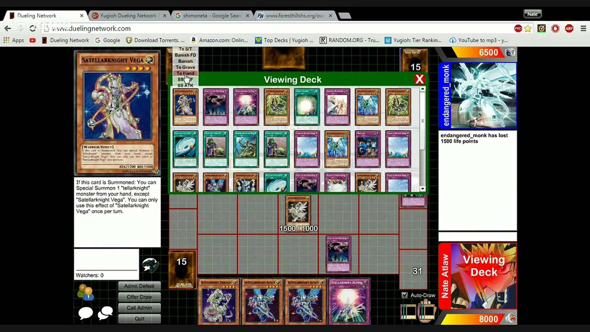 yugioh dueling network road