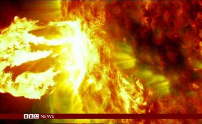 Solar Flares Footage Released By Nasa Bbc News Video