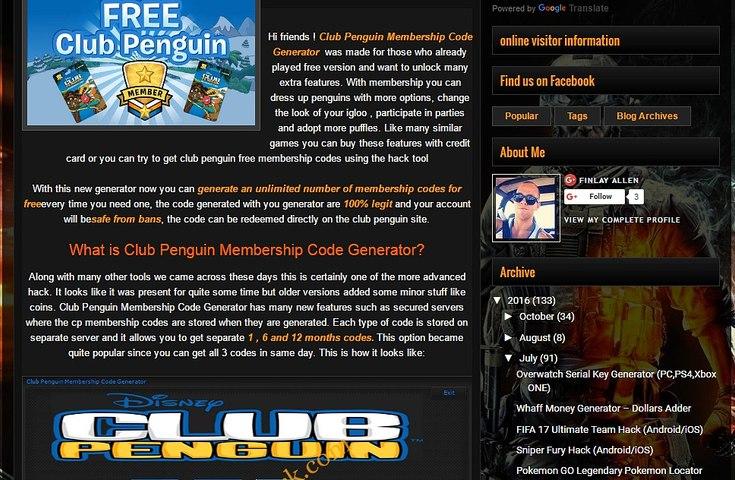club penguin membership code