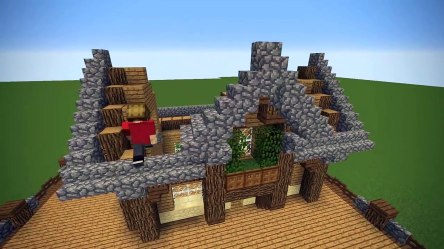 Minecraft: Starter Base Tutorial Wooden Minecraft House video dailymotion