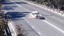weird car accident فيديو