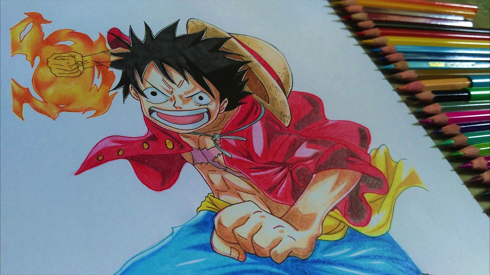 It was a good test this time. Drawing Monkey D Luffy From Anime One Piece Video Dailymotion