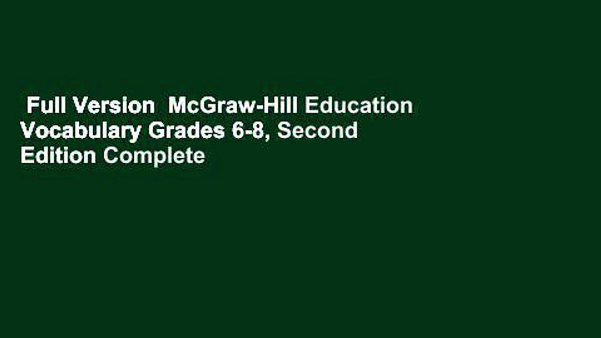 hight resolution of Full Version McGraw-Hill Education Vocabulary Grades 6-8