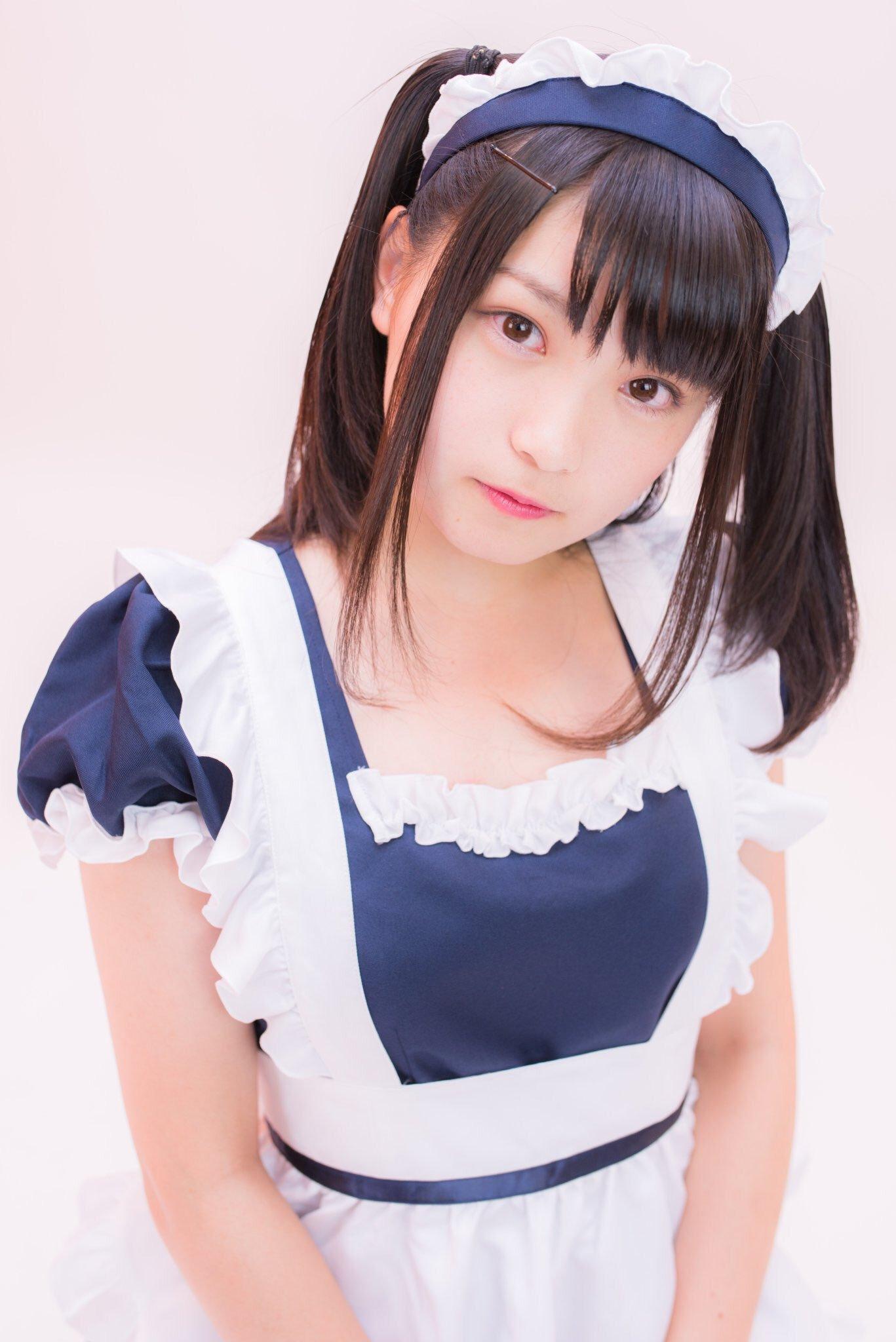 日本清純美少女福利寫真欣賞 黑絲女仆裝誘惑無比 - 豹好玩