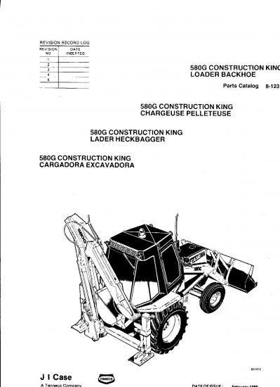 Tractopelle case 580 f revue technique