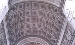 Interior ceiling of the Arc de Triomphe