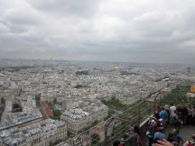 Paris from the second floor of Tour Eiffel