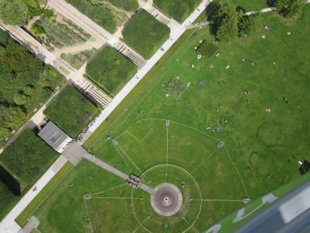 Looking down from Balloon air de Paris