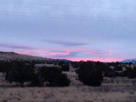 Sunrise on AZ-64, en route to the Grand Canyon