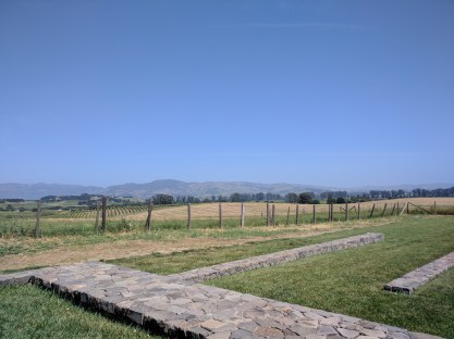 Napa from The Carneros Inn's hilltop pool