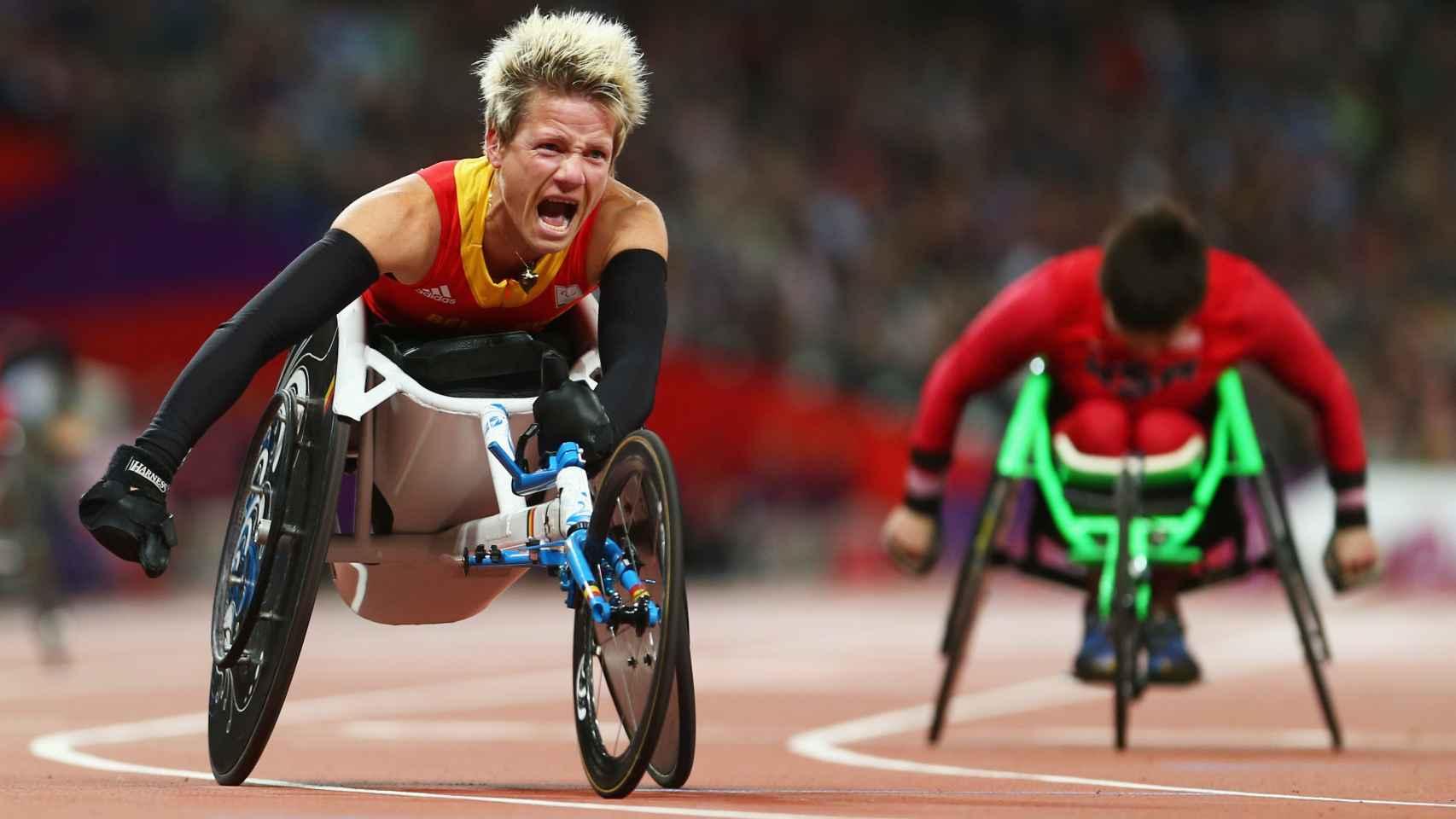 Marieke Vervoort, en los Juegos Paralímpicos de Londres 2012.