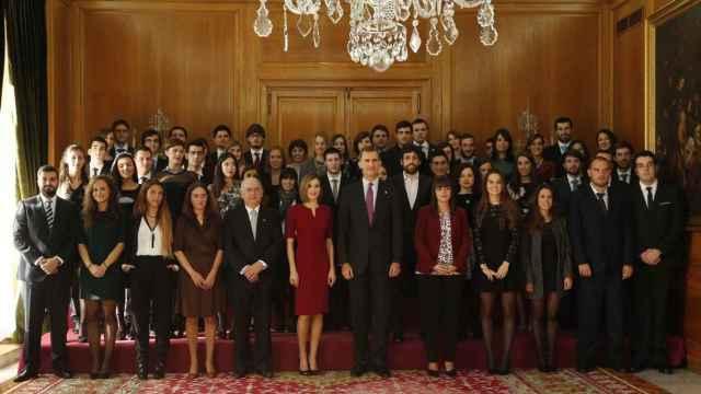 Audiencia con los premiados del pasado año en el hotel Reconquista de Oviedo.