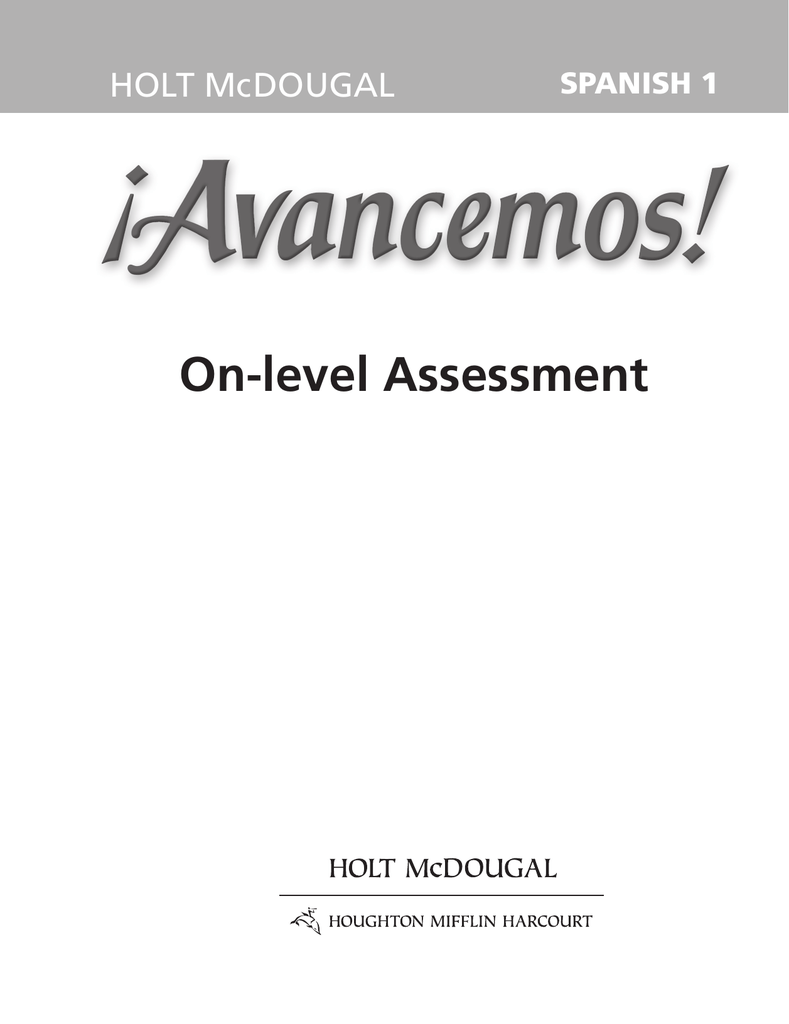On-level Assessment