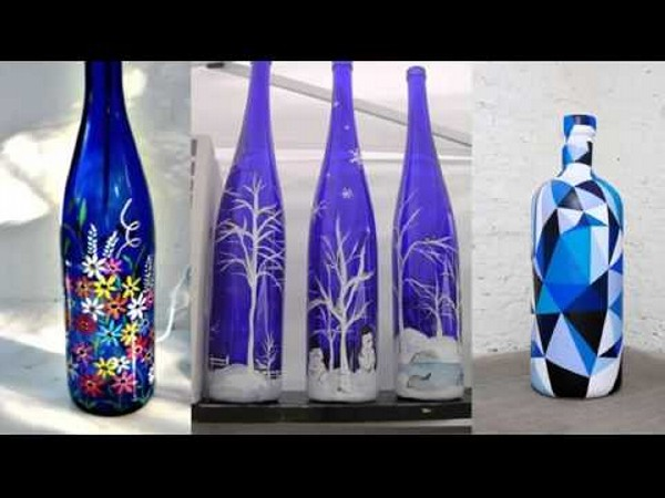 decorated glass bottles. Repurposed Glass Bottles Into Creative Decorations Recycled Decorating Ideas  Billingsblessingbags org