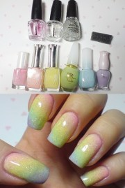 colors nail polish nails rainbow