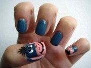 easy disney nail art design 2015