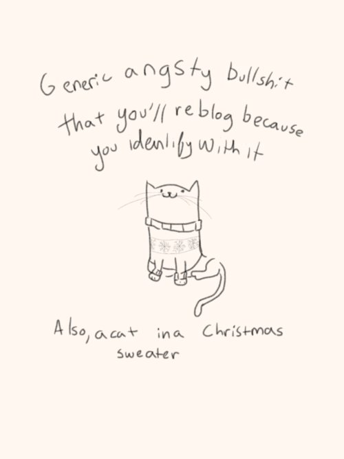 angst, black and white, cat, christmas, cute