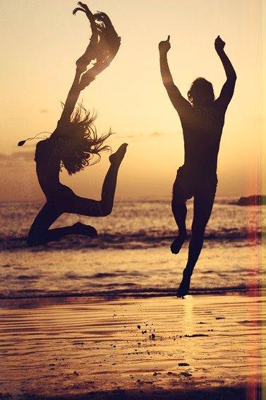 beach, fun, people, summer, sunset