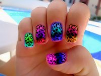 cute, nail polish, nails, pretty, print - image #281714 on ...