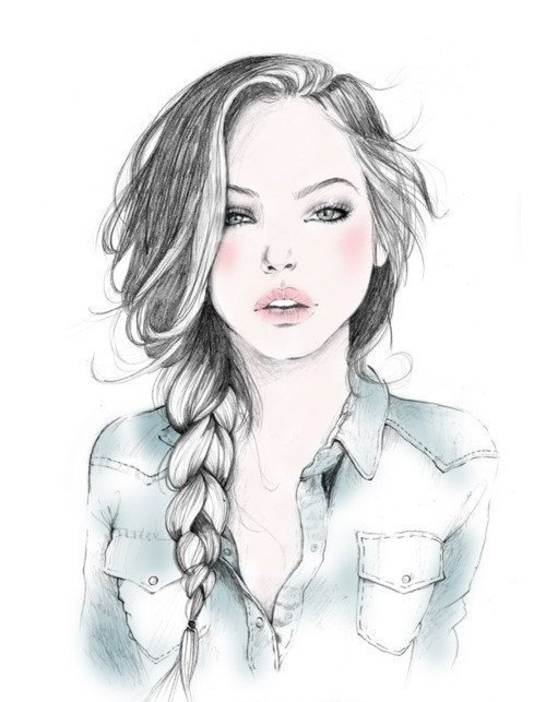 art, beauty, draw, drawing, girl
