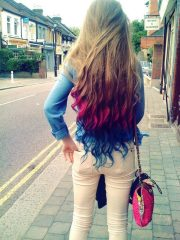colors cute fashion hair rainbow