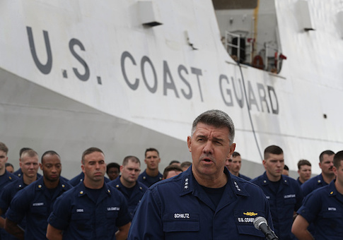 Vice Admiral Karl Schultz, Commander, Coast Guard