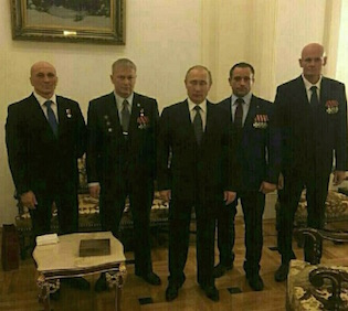 Putin awarding medals in 2016 to Wagner company officials