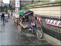 NT2673 : Rickshaw, Surgeon's Hall by Richard Webb