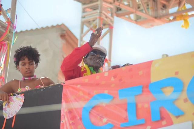 Riachão em seu último carnaval em Salvador, em 2020 — Foto: Enaldo Pinto/Ag Haack