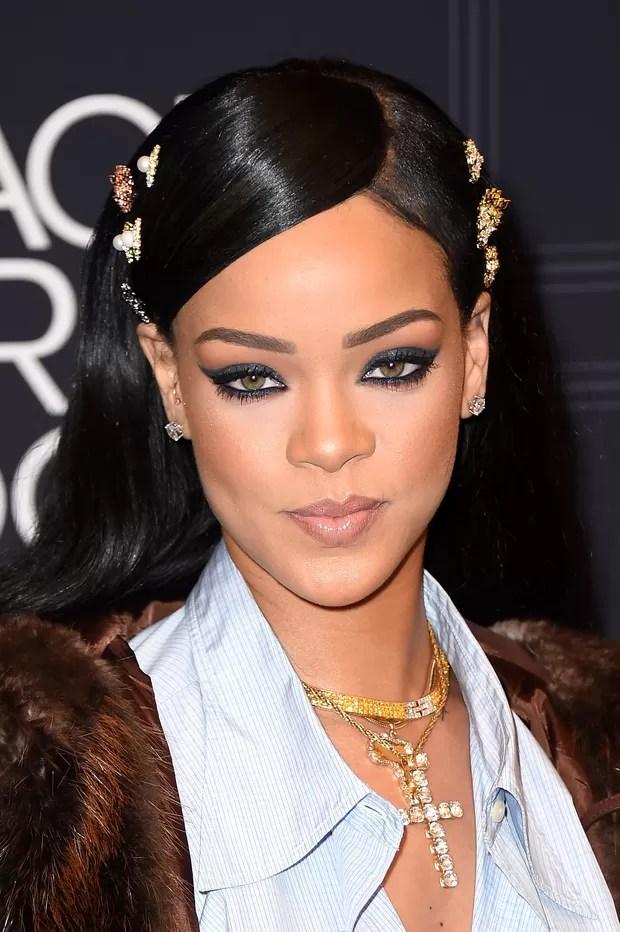 Rihanna em premiação em New Jersey, nos Estados Unidos (Foto: Nicholas Hunt/ Getty Images)
