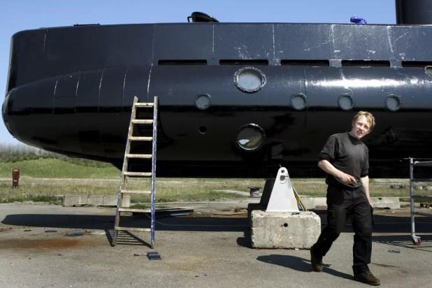 Imagem de abril de 2008 mostra Peter Madsen, dono de um submarino de construção amadora (Foto: Niels Hougaard /Ritzau, arquivo via AP)