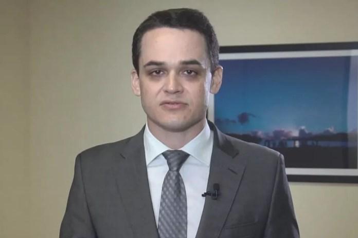Delegado Pazolini, candidato a prefeito pelo Republicanos — Foto: Reprodução/TV Gazeta