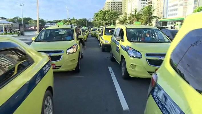 sta terça-feira (31) acontece o último dia de cadastramento dos auxiliares de táxi do Rio de Janeiro (Foto: Reprodução/Globo)