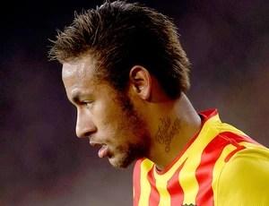 Neymar jogo Atlético de Madrid e Barcelona (Foto: AFP)