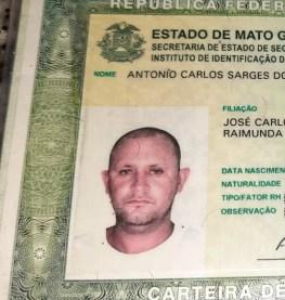 motorista morreu nessa quarta-feira (13) ao ser baleado no rosto enquanto dirigia e sofrer um acidente ao atingir uma árvore em Sorriso, — Foto: Ronny Pascoal/Marcos Rafael/Joca de Souza