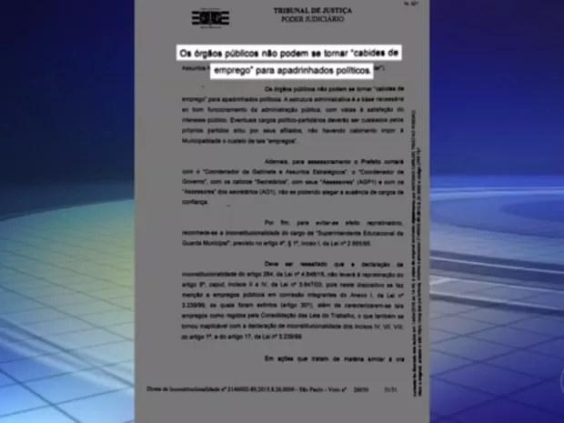 Justiça determinou que aproximadamente 200 funcionários fossem demitidos (Foto: Reprodução/TV TEM)