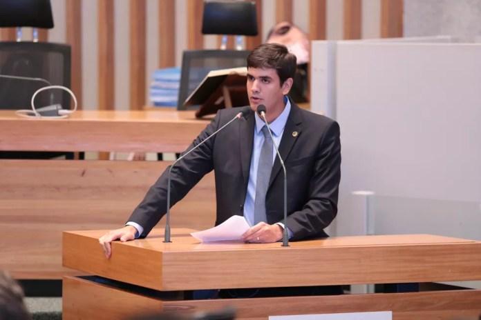 Na foto, o deputado distrital Rafael Prudente (MDB) no plenário da Câmara Legislativa, em imagem de arquivo — Foto: Câmara Legislativa/Divulgação