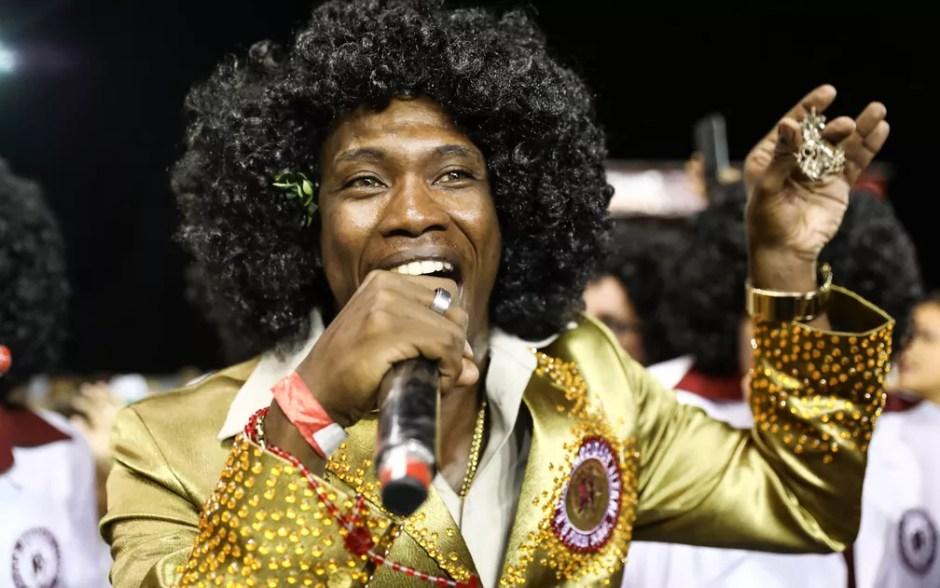 Tiganá e Ito Melodia são os intérpretes do samba da Mocidade Alegre (Foto: Fabio Tito/G1)