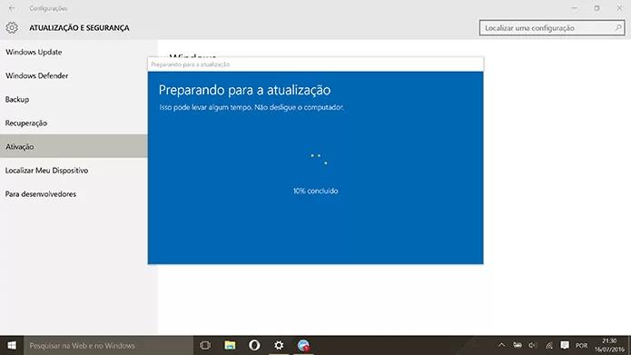 Windows 10 Home fará o download e upgrade para a versão Pro (Foto: Reprodução/Elson de Souza)