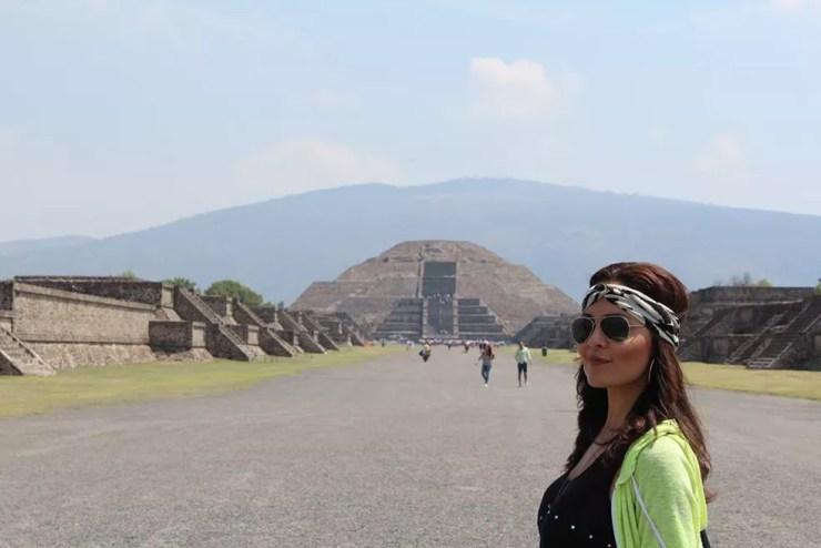 Hylka Maria posa no México, país onde vive (Foto: Arquivo pessoal)