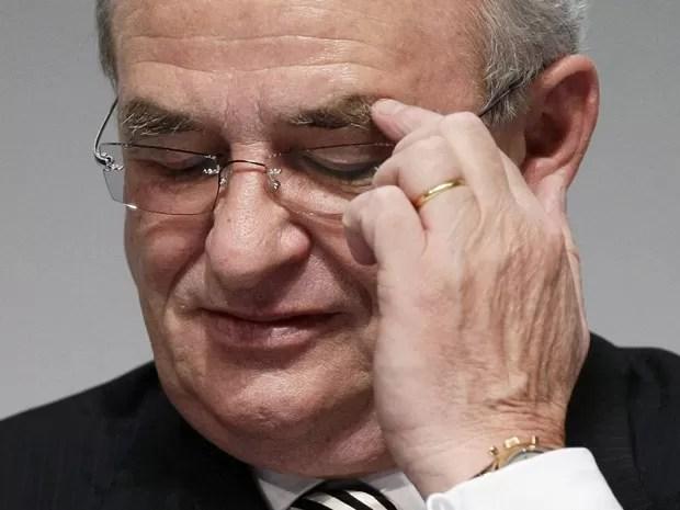Martin Winterkorn, presidente-executivo da Volkswagen, renuncia (Foto: Alex Domanski/Arquivo Reuters)