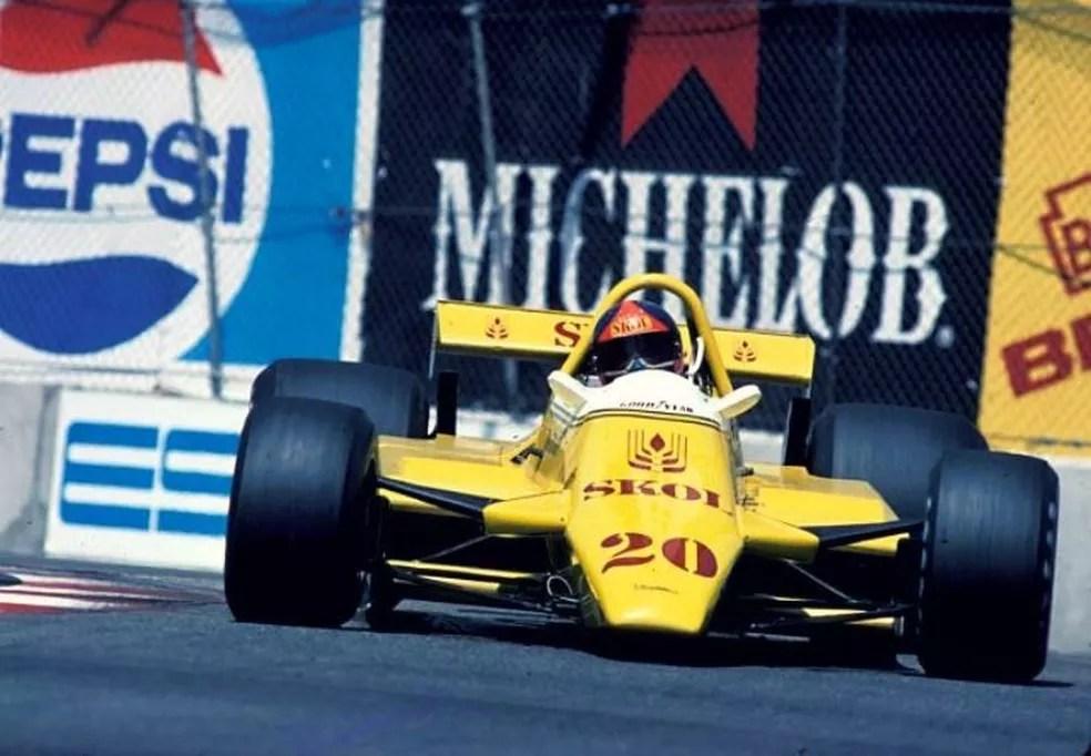 Emerson Fittipaldi a caminho de seu último pódio na F1, em 1980 — Foto: Reprodução/rede social