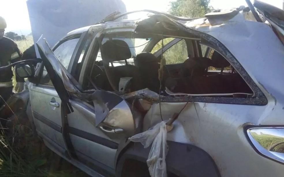 Corpo de Bombeiros ainda não sabe o que motivou o acidente  (Foto: Corpo de Bombeiros/Divulgação)