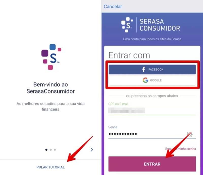 Acesse a sua conta no Serasa Consumidor — Foto: Reprodução/Helito Beggiora