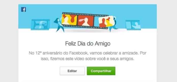 Facebook celebra 12 anos com Dia do Amigo; veja como fazer seu vídeo (Foto: Divulgação/Facebook)