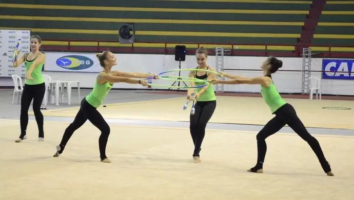 Seleção de ginástica rítmica (Foto: Osmar Rios / GloboEsporte.com)