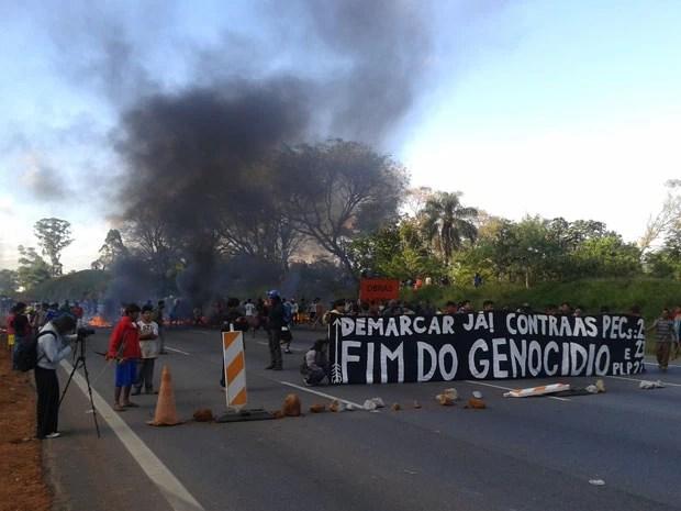 Protesto durou cerca de uma hora e meia (Foto: Paulo Guilherme/G1)