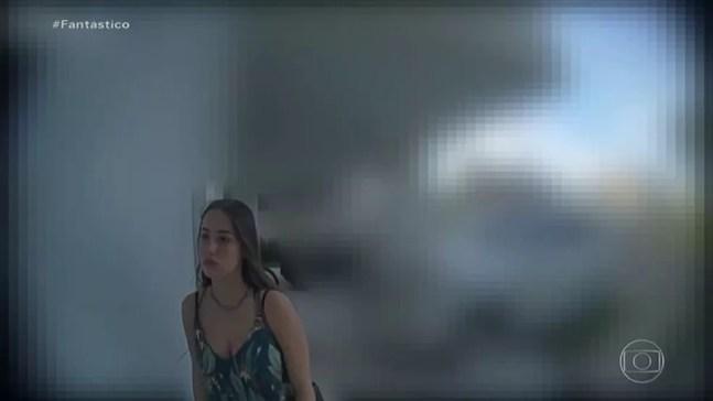 Câmera registra últimas imagens de Isabele antes de morrer — Foto: Fantástico