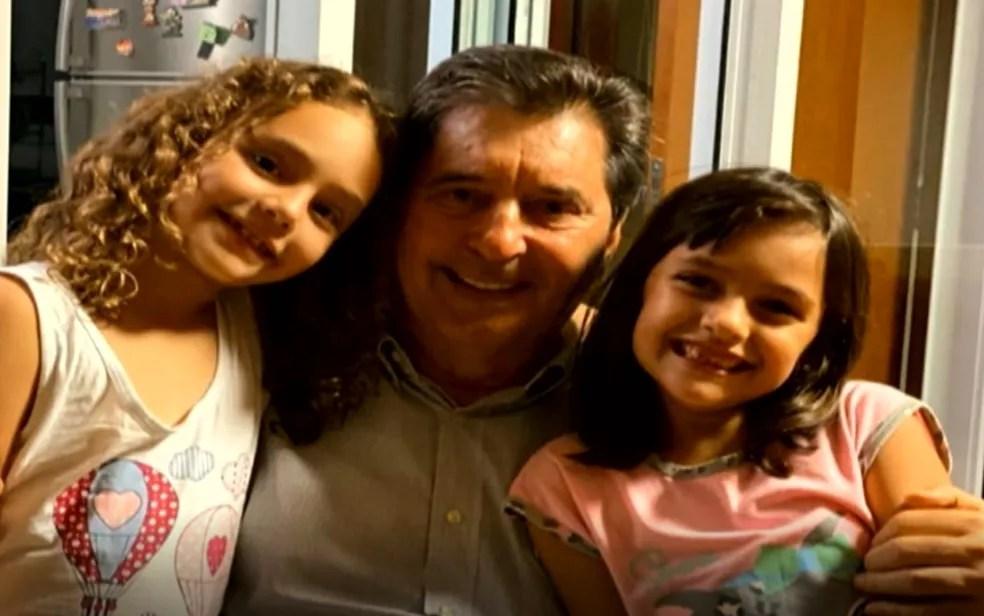 Maguito Vilela era apegado à família e aos netos, segundo familiares  — Foto: Reprodução/TV Anhanguera